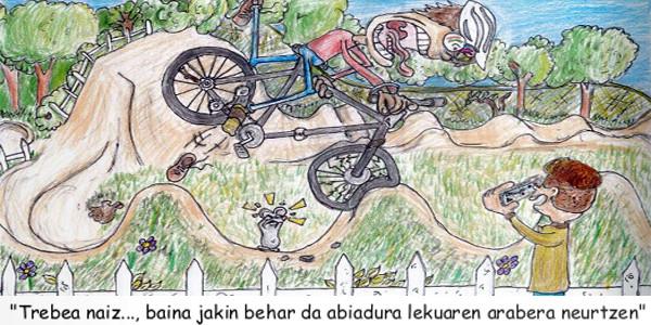 Markel Uranga premiado en el concurso de dibujo sobre educación vial