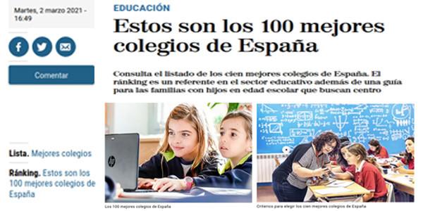 """Axular berriro """"El Mundo"""" egunkariaren 100 ikastetxe onenen artean"""