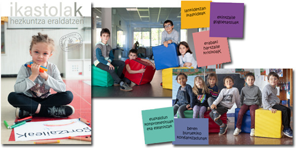 Axular en la campaña de matriculación de Ikastolen Elkartea