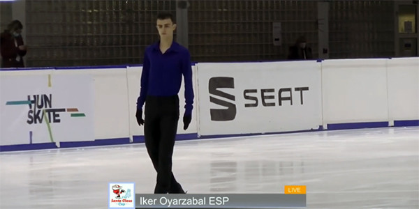 Iker Oyarzabalek urrezko domina lortu du patinaje artistikoko estatuko txapelketan