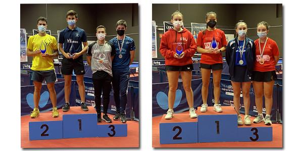 Ander Cepas e Irati Fushu Artola, campeones absolutos de Euskadi de tenis de mesa